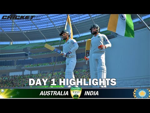 INDIA vs AUSTRALIA ,1st Test Match Day 1 Highlights 2020 | IND Tour AUS | CRICKET 19 GAMEPLAY