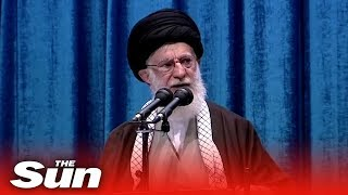 Iran Supreme Leader Khamenei blasts Trump as a 'clown' as protests force him to lead Friday prayers