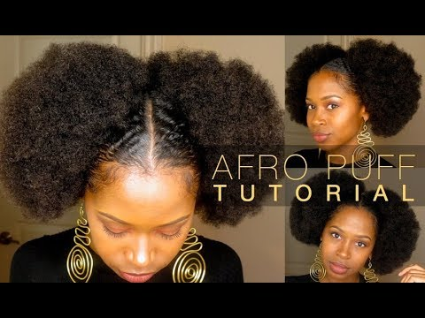 EASY HUGE AFRO PUFFS | For Short & Medium Length Hair