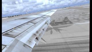 Flight Simulator X  - Landing 737 Leipzig-Halle