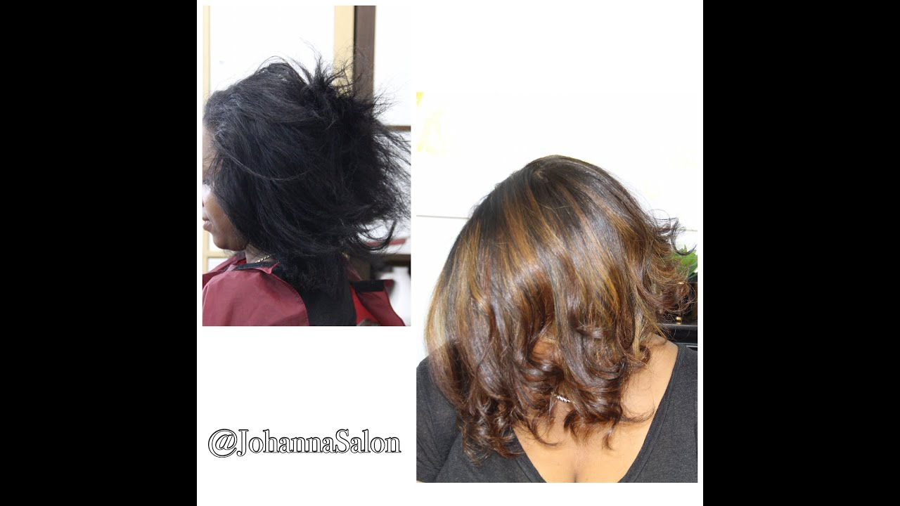 Advanced Hair Color Correction| Black to Warm Brown - YouTube