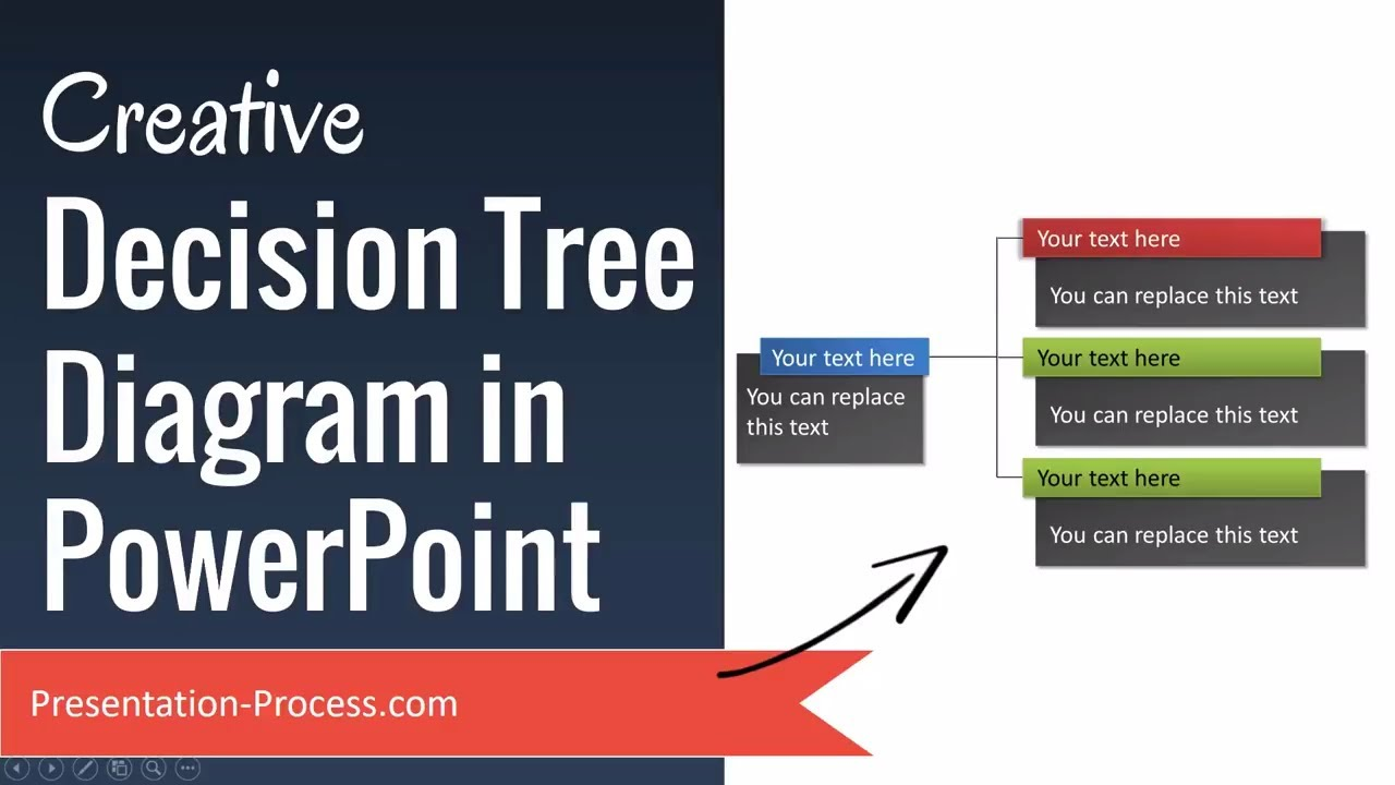 creative decision tree diagram in powerpoint youtube