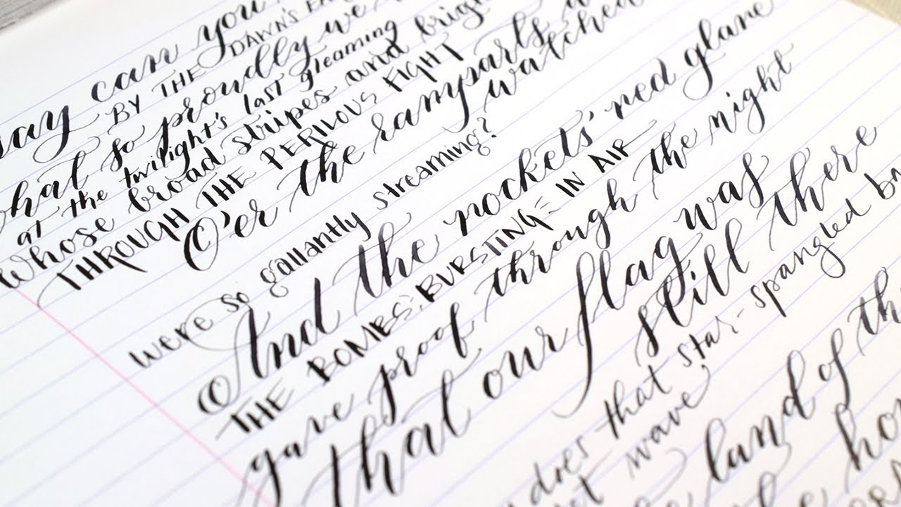 The Star Spangled Banner: Calligraphy + Lettering Edition