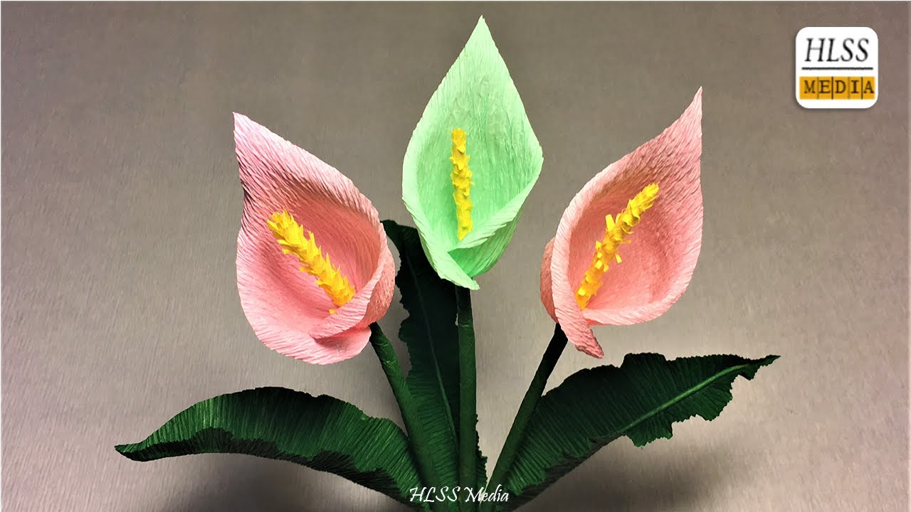 How to make calla lily paper flower diy calla lily crepe paper how to make calla lily paper flower diy calla lily crepe paper flower making tutorials izmirmasajfo Image collections