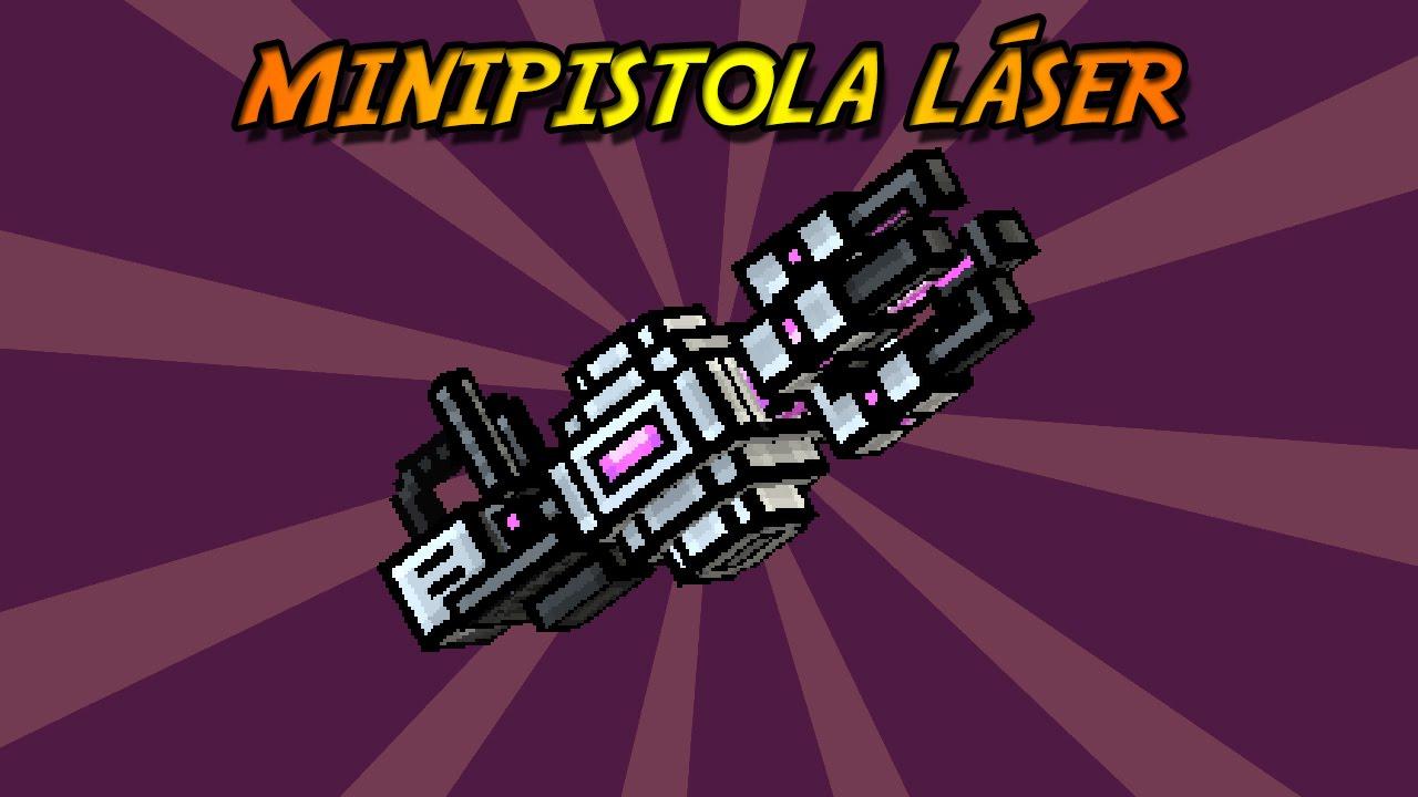 pixel gun 3d minipistola l225ser laser minigun review