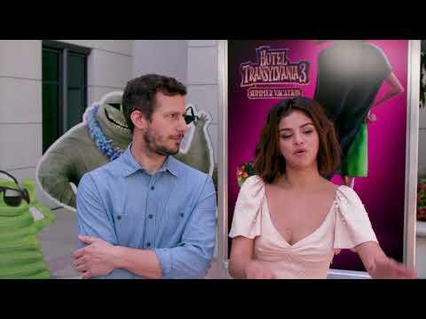 Andy Samberg and Selena Gomez Talk About Hotel Transylvania 3 Summer Vacation