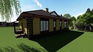 Готовый проект одноэтажного дома на 2 семьи в Туле и Москве