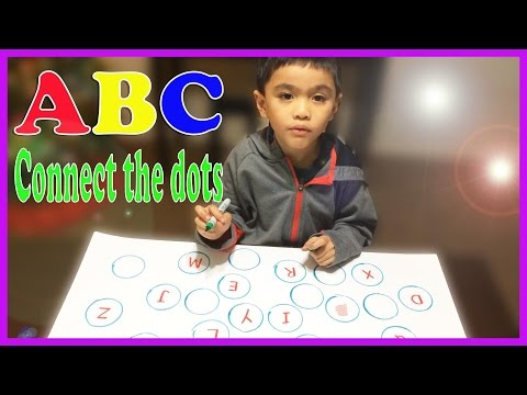 Learning ABC alphabets connect the dots game