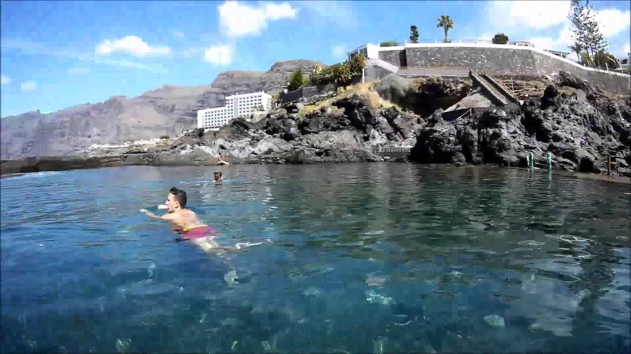 Los Gigantes Natural Pool Youtube