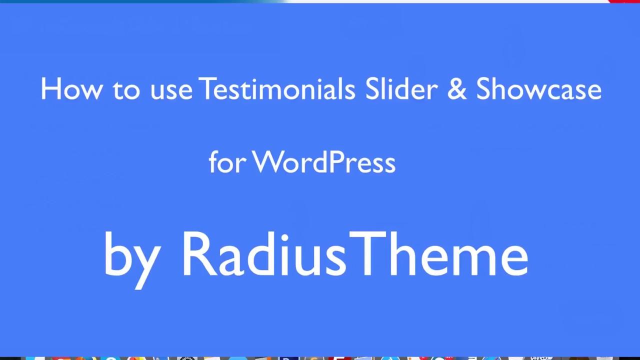 Testimonials Slider & Showcase WordPress Plugin