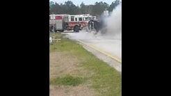 US Postal Service truck on fire! Jacksonville,  Fl