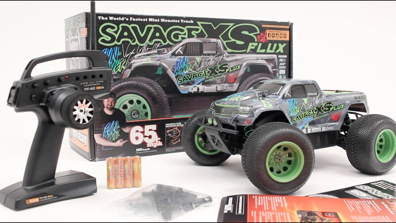 RC ADVENTURES - Unboxing the HPi SAVAGE XS FLUX MINi-MONSTER TRUCK .