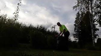 Kesäkauden loppua ja käsi käyttöinen akku pensas- ja ruohonleikkurin testaus