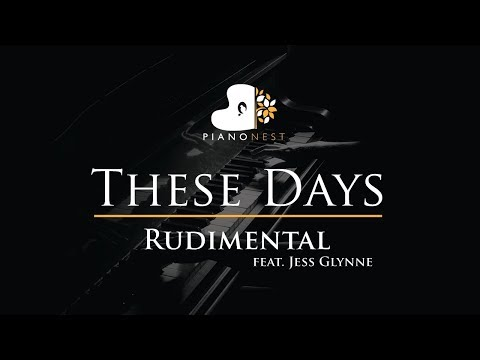 Rudimental - These Days feat. Jess Glynne - Piano Karaoke / Sing Along / Cover with Lyrics