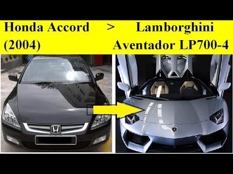 Build Lamborghini Aventador Replica From The Honda Accord.