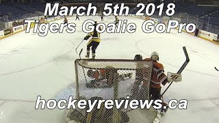 March 5th 2018 Tigers Hockey Goalie GoPro, Game of the year?