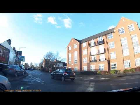 Practical driving test route, Loughborough, 11:11 15/12/17