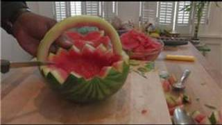 Cooking & Culinary Tips : How To Make A Watermelon Basket