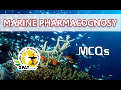 MARINE PHARMACOGNOSY MCQs | PHARMACOGNOSY | GPAT | NIPER | PHARMACIST EXAM