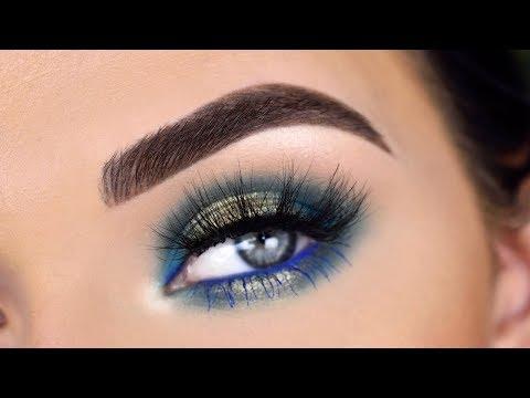 Dominique Cosmetics Rustic Glam Eyeshadow Palette   Blue Eye Makeup Tutorial
