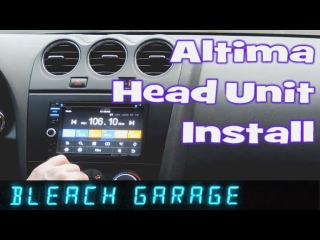 How To Install Car Stereo In Nissan Altima 2007 2012 Boss Double Din Youtube