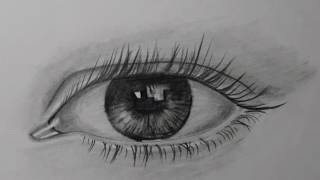 Realistic eye drawing by pencil very easy to learn