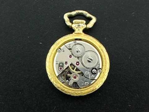 bucherer gold plated mini pocket 17 jewels