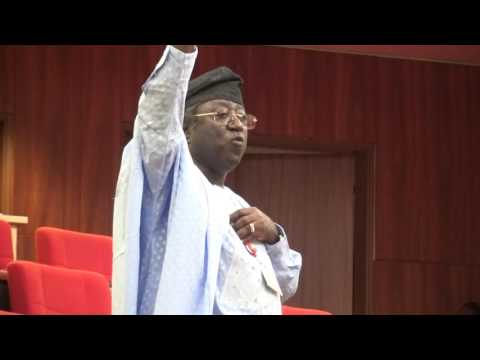 25th May 2016          Sen  Dr Jonah David Jang suporting a motion on Senate  Intervention on the Re