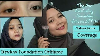 Review Produk Oriflame The One Everlasting Foundation Extreme SPF 30 || TAHAN LAMA,GAK LUNTUR!!