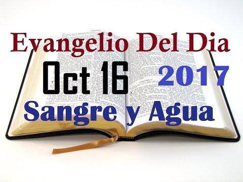 Evangelio del Dia- Lunes 16 Octubre 2017- Sangre y Agua