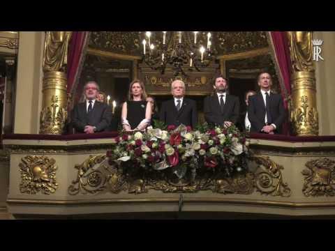 Milano - Mattarella al Teatro la Scala