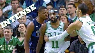 Dennis Smith Jr VS Kyire Irving HEATED PG Battle!! Celtics vs Mavs!