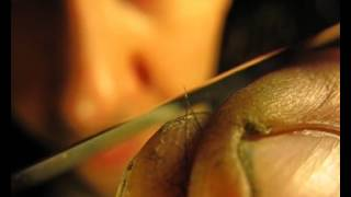 Опыт №7 нож японский режем волос