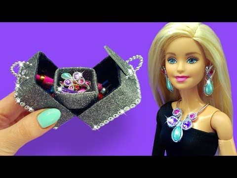 Barbie Doll Makeup Box. DIY for Kids. How to Make Miniature Crafts