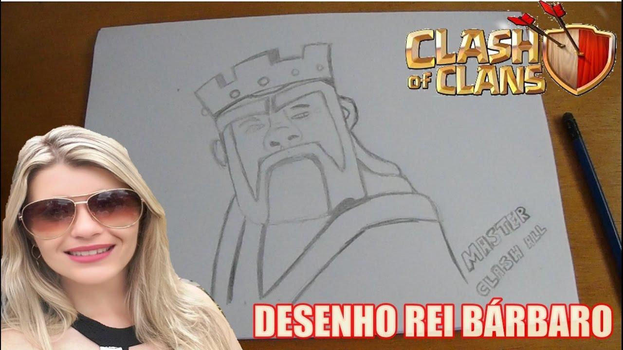 desenho rei bÁrbaro clash of clans 1 youtube