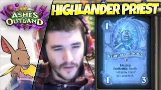 Do Ya Like Highlander Priest Zalae? | Firebat Hearthstone | Ashes of Outland
