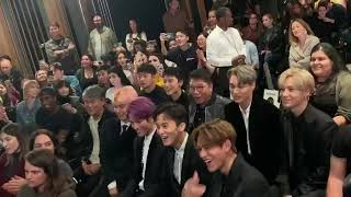 #EXO #SuperM #SHINEE #NCT   191004  SuperM reaction to JOPPING   Premiere Event