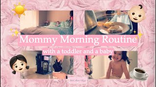 MOMMY OF TWO MORNING ROUTINE 2019| Toddler and a baby 👧🏻👶🏻 |Girl Mom Vlogs 🎀