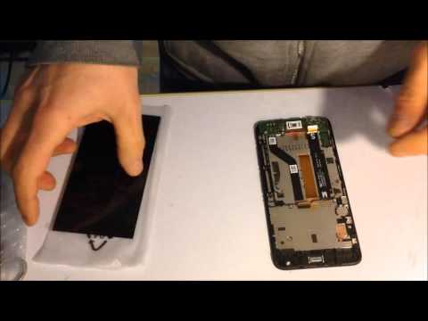 HTC desire 626g replace digitalizer tocuh display lcd cambio vetro