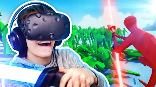 TABS ZOMBIES IN VIRTUAL REALITY! - Totally Accurate Battle Simulator TABS Alpha Gameplay (HTC Vive)
