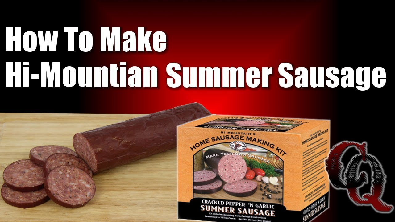 How to make homemade summer sausage