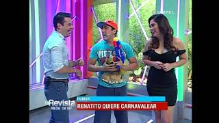 Humor: Renatito listo para el carnaval y hasta pago su comparsa con pareja
