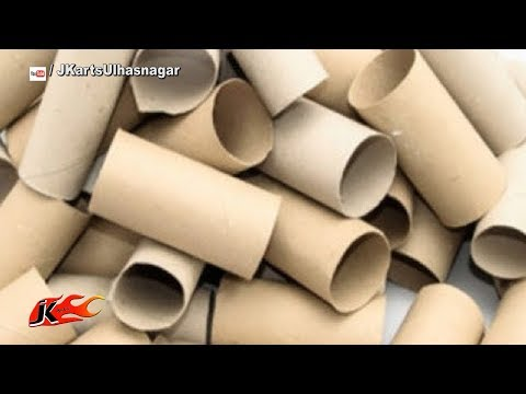 DIY Paper Roll Craft Ideas | Best Out Of Waste | JK Arts 1541