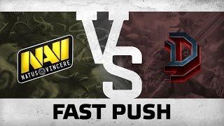 WATCH FIRST: FAST PUSH - Na`Vi vs DD @ The Kiev Major CIS Quals