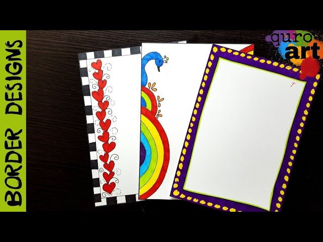 Hearts | Border designs on paper | border designs | project work designs | borders for projects