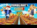SZALONY WYŚCIG! - CLASH OF CLANS LUCKY BLOCKI MINECRAFT (Lucky Block Race) | Vito vs Bella