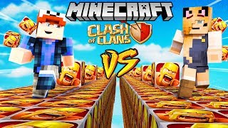 SZALONY WYŚCIG! - CLASH OF CLANS LUCKY BLOCKI MINECRAFT (Lucky Block Race) | Vito vs Bella
