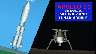 REALISTIC APOLLO 11 MISSION WITH SATURN V and LUNAR MODULE - Space Flight Simulator