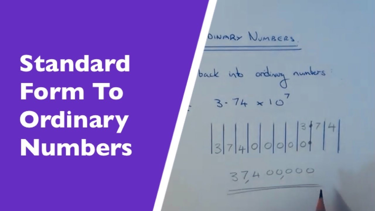 How to convert standard index form numbers back into ordinary how to convert standard index form numbers back into ordinary numbers positive powers falaconquin