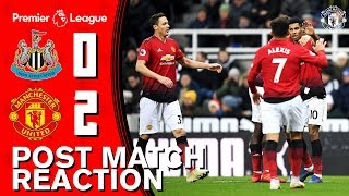 Rashford, Lindelof & Solskjaer reflect on Newcastle win | Newcastle 0-2 Manchester United
